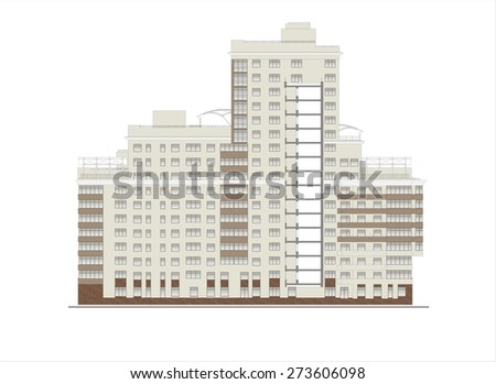 The facades of the building, drawing, coloring , a typical building of Moscow, houses, churches.