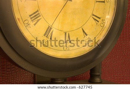 The face a lovely grandmother clock - stock photo
