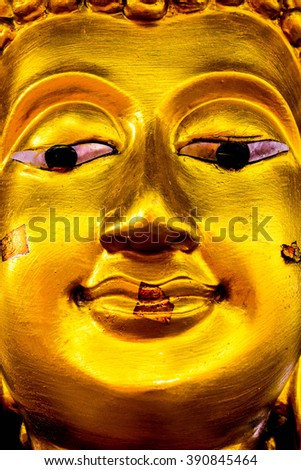 The face of Buddha, have space for text.
