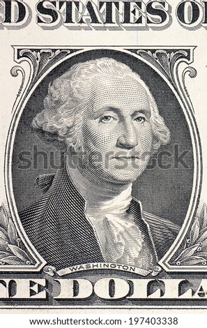 The face of Washington the dollar bill