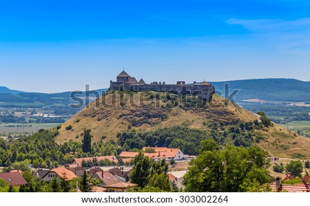 The famous Castle Sumeg in Hungary, Europe. - stock photo