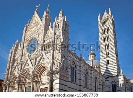 The famous Cathedral in Sienna, Italy
