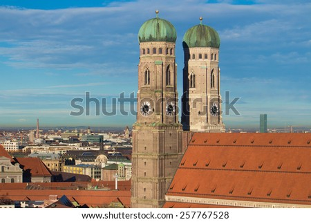 The famous church in munich. - stock photo