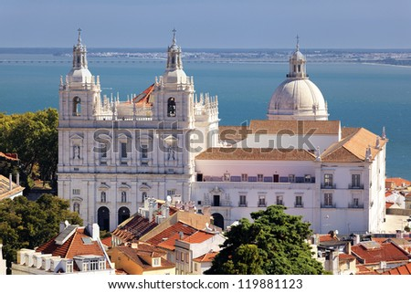 the famous Church of St. Vicent in Lisbon