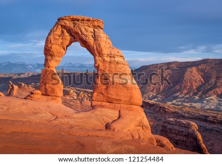The famous Delicate Arch at Arches National Park, Utah.