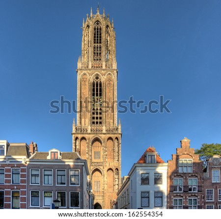 The famous Dom tower in Utrecht, Netherlands. - stock photo
