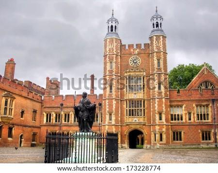 The famous  Eton College, Windsor, United Kingdom - stock photo