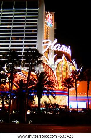 The Famous Flamingo Hotel on the Las Vegas Strip - stock photo