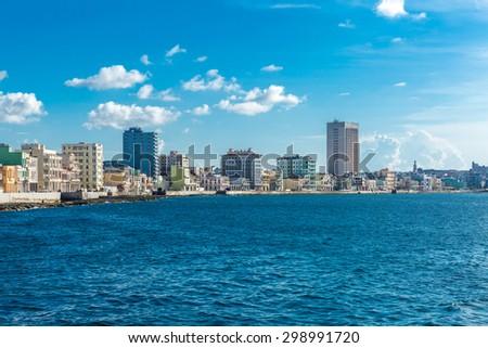 The famous Malecon in Havana, Cuba - stock photo