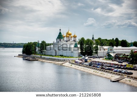 The famous orthodox Ipatievsky monastery in Kostroma town. Russia - stock photo