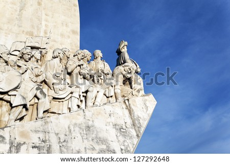 The famous Padrao dos Descobrimentos, monument in Lisbon - stock photo