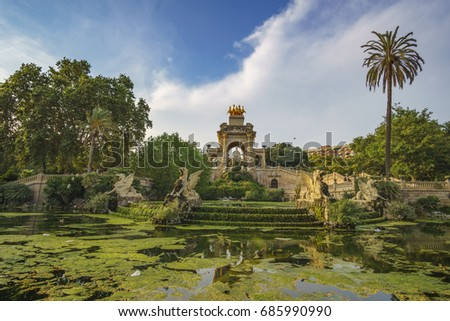 The famous Parc de la Ciutadella or Citadel Park is a park on the northeastern edge of Ciutat Vella, Barcelona, Catalonia. There are the city zoo, museums, as well as the the Parliament of Catalonia