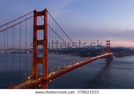 the famous red bridge in San Francisco