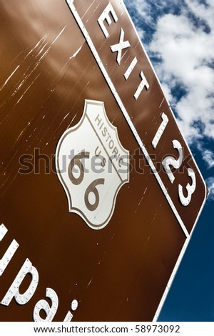 The famous Route 66 - stock photo
