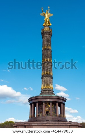 The famous Statue of victory in Berlin, Germany