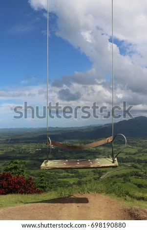 The famous swing of the Rounded Mountain at Miches, Dominican Republic