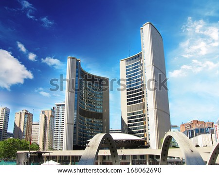 The famous Toronto town hall, Canada - stock photo