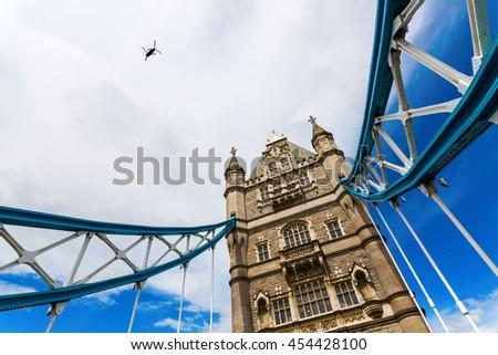 The famous Tower Bridge in London, UK - stock photo