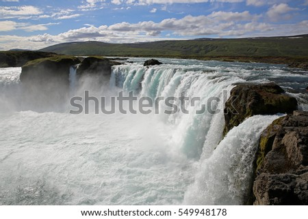 The fantastic Godafoss Waterfall in Iceland. Europe