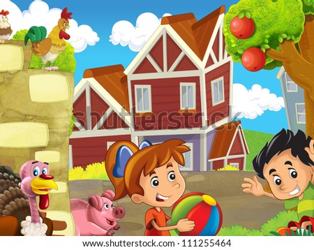 The farm illustration for kids 3