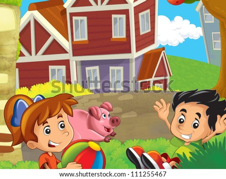The farm illustration for kids 1