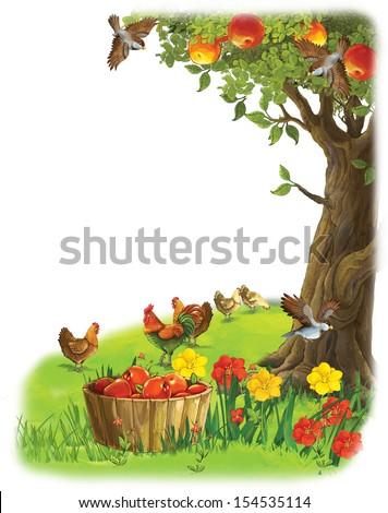 The farm - illustration for the children - stock photo