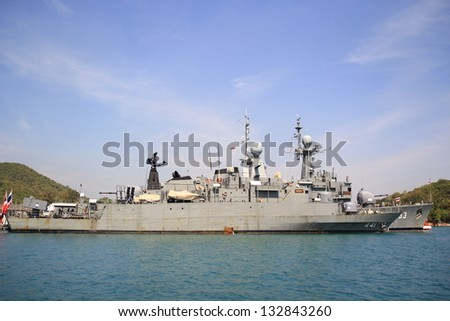 The FAST FRIGATE ,FF battle ship - stock photo