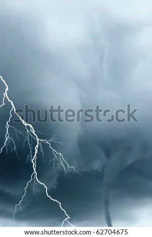 the  fearful strength of the nature - stock photo