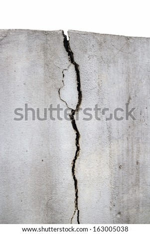 The fence cracked, The walls cracked. - stock photo