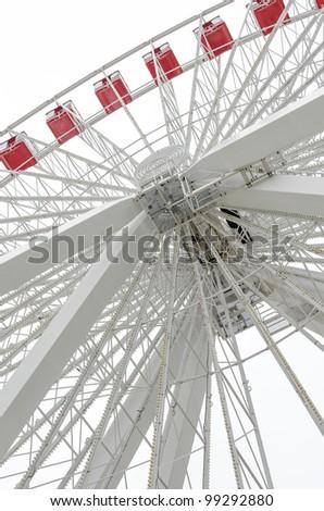 the ferris wheel on navy pier in chicago - stock photo