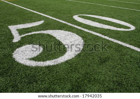 The Fifty Yard line - stock photo