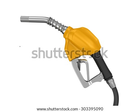 The filling gun. 3d render on white background
