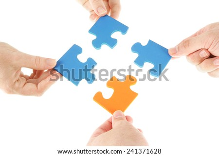 The final piece of the puzzle - stock photo
