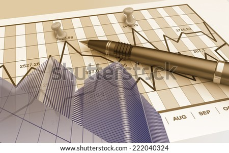 The financial report as a modern business concept - stock photo