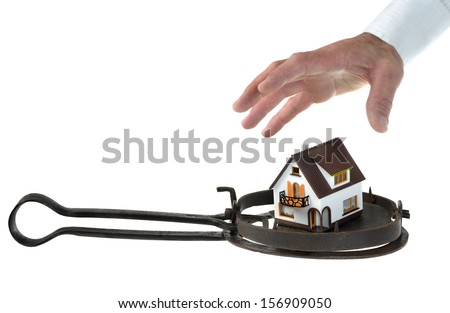 the financial risks of the real estate  - stock photo