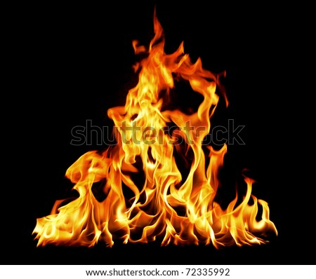 the fire - stock photo