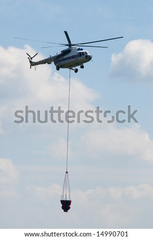 The fire helicopter of Russian service