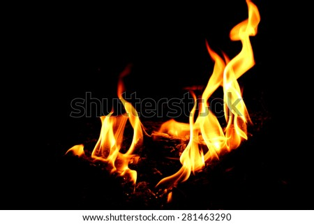 The fire movement - stock photo