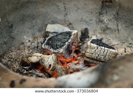 The fire was extinguished down. - stock photo