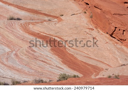 The Fire Wave formation in Valley of Fire State Park, Nevada - stock photo