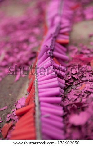 The firecrackers, China have the Spring Festival when common items - stock photo