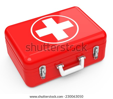 the first-aid box - stock photo