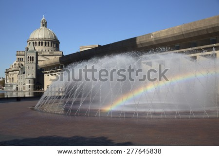 The First Church of Christ Scientist in Christian Science Plaza in Boston, MA, USA - stock photo