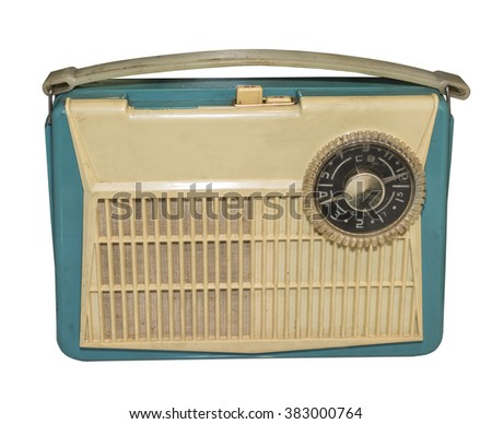 The first Soviet mass transistor radio, 1959.Is isolated on the white