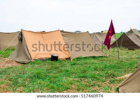 The First World War military camp.