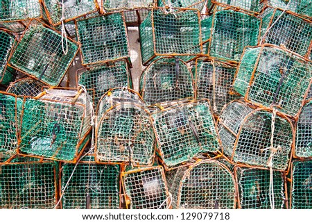 The fish basket stored in the middle of the season - stock photo