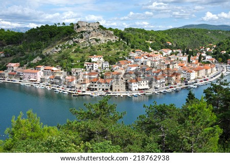The fisher village of Novigrad, Croatia - stock photo