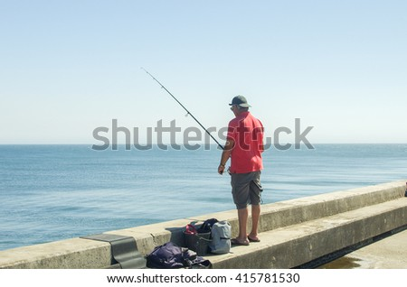 The fisherman on the coast