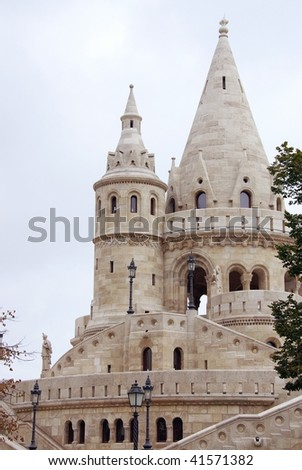 The fishermen bastion in Budapest in Hungary - stock photo
