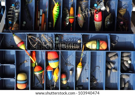 The fishing equipment. - stock photo